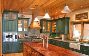 great painted kitchen cabinets improve house sale value in johnson coutny kansas - painted black on orange