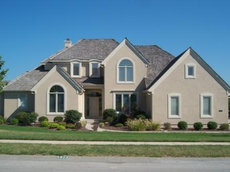 Residence in Olathe with exterior painting.