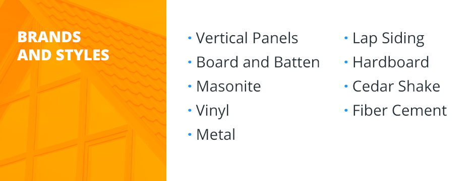 Brands of Siding