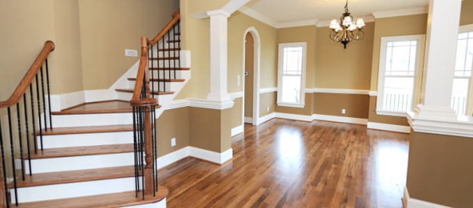 a professional painter in kansas city finishes a beautiful interior
