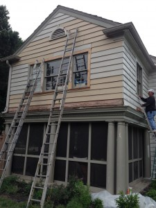 a great brookside home gets repainted after some repair work