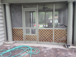 brookside home gets some finish work done on the exterior