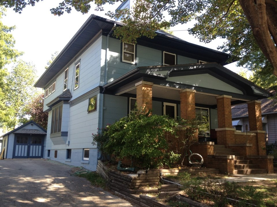 a classic home in Brookside gets a fresh coat of paint.