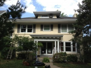 a brookside home is painted and restored
