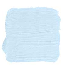 light sky blue interior paint swatch on paper