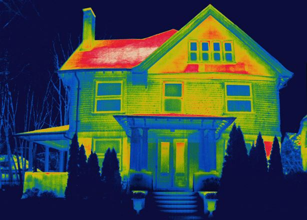 exterior paint reflecting using a heat map