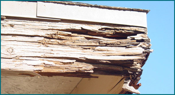 an example of a kansas city home with wood rot