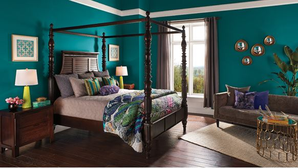 2016 Paint Color Warm Teal In Brown Kansas City Bedroom
