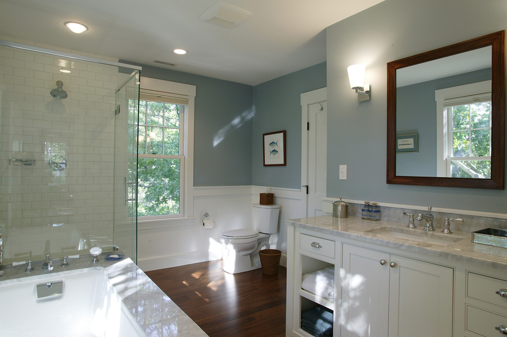 Relaxing paint colors for your bathroom kcnp for Green and gray bathroom designs