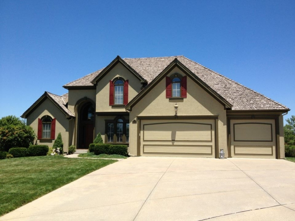 Olathe home with exterior home painting.