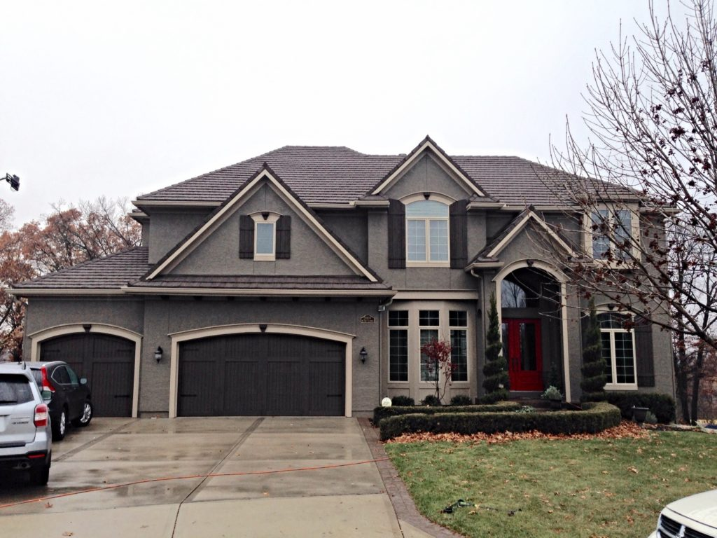Overland Park home with exterior painting.