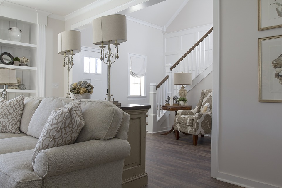 White Painted Living Room