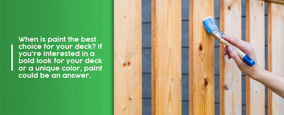 Benefits of Painting a Deck