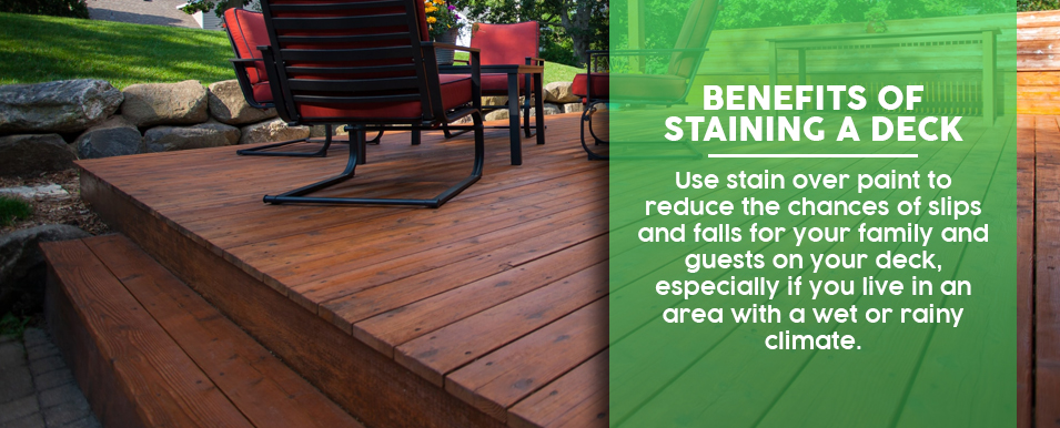 Benefits of Staining a Deck